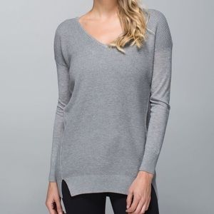 Lululemon The Sweater Life Gray Sweater